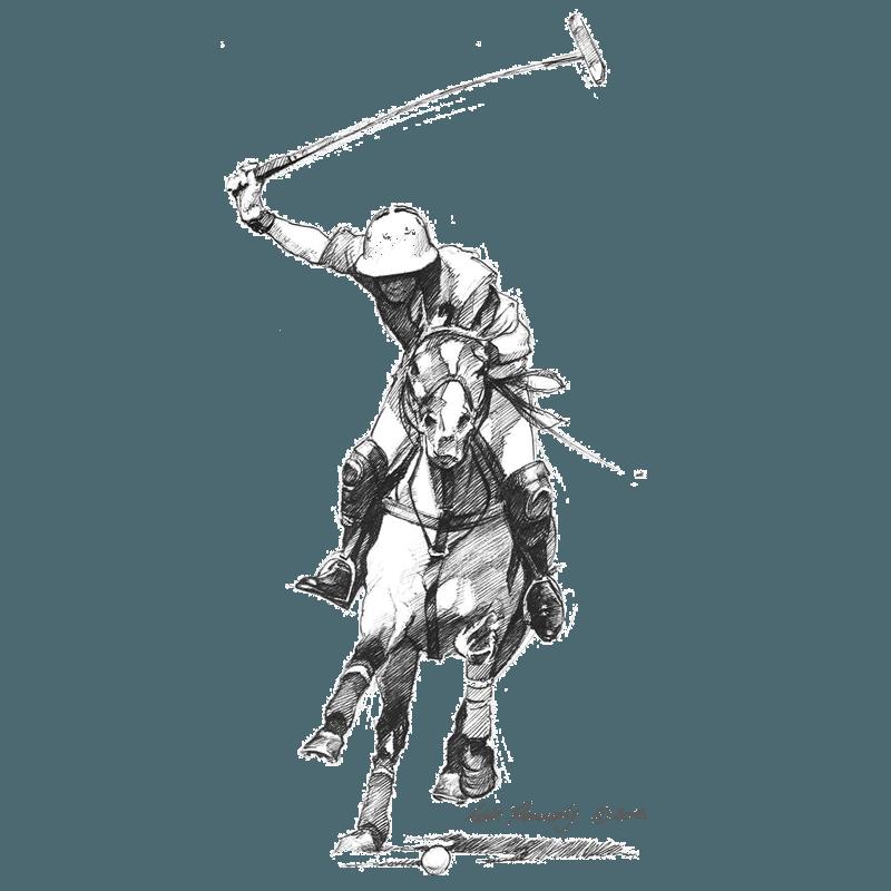 Polo player by Eddie Kennedy